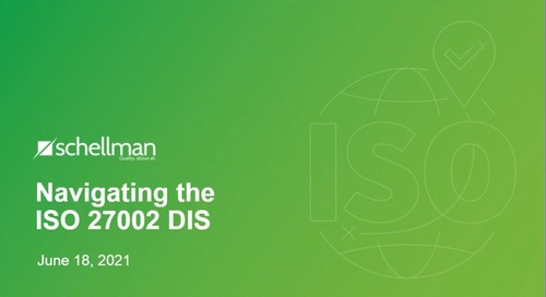 Navigating the ISO 27002 DIS