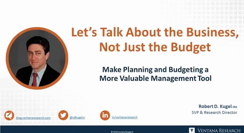 Achieve Business Objectives By Talking About the Business, Not Just the Budget