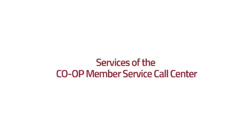 Services of CO-OP Member Center