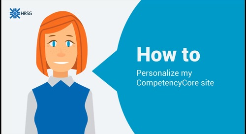 How to personalize CompetencyCore