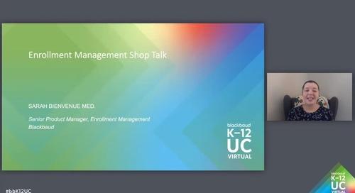 Shop Talk: Admissions and Enrollment