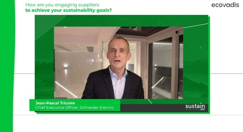CEO of Schneider Electric Talks About The Role of Suppliers to Achieve Sustainability Goals