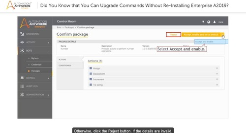 Learn RPA— Using Packages to Install Updates in Enterprise A2019