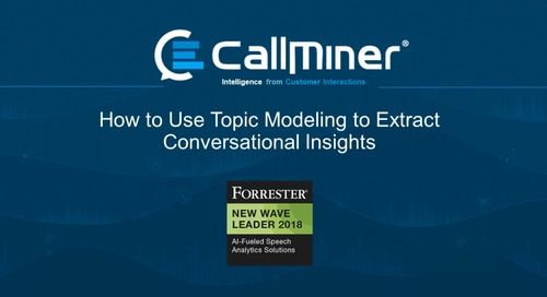 How to Use Topic Modeling to Extract Conversational Insights
