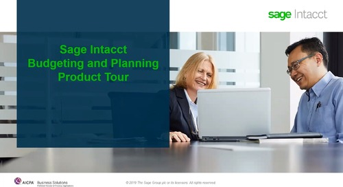 Sage Intacct Product Tour for Budgeting and Planning