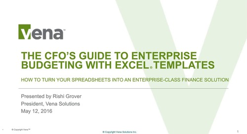 The CFO's Guide to Enterprise Budgeting with Excel Templates
