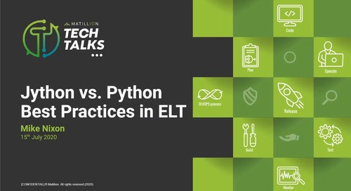 Tech Talk - Jython vs. Python Best Practices in ELT