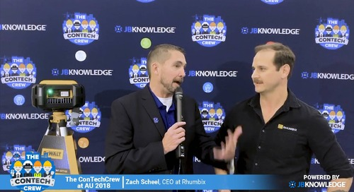 The ConTechCrew at AU 2018: Jeff Sample chats with Zach Scheel of Rhumbix