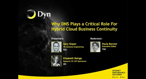 Why DNS Plays a Critical Role For Hybrid Cloud Business Continuity