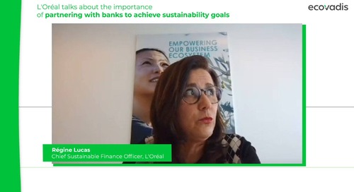 L'Oréal parle de l'importance du levier financier pour atteindre les objectifs de développement durable