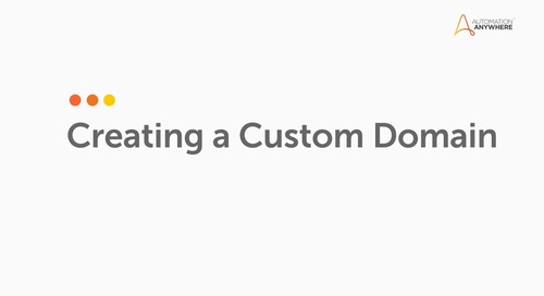 Create a Custom Document Type IQ Bot in Community Edition