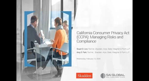 California Consumer Privacy Act (CCPA): Managing Risks and Compliance