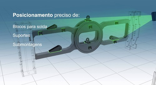 Posicionamento e montagem de peças com tecnologia de projeção a laser