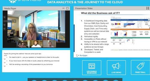 Webinar: Healthcare Virtual Panel: Data Analytics & the Journey to the Cloud
