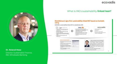 En quoi consiste le prêt lié aux performances RSE d'ING ? Pouvez-vous fournir quelques exemples concrets ?