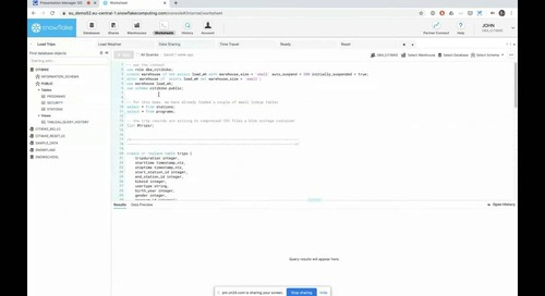 Jeudis de Snowflake – Episode 1 - Introduction à la Cloud Data Platform