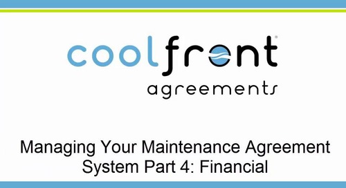 Managing Your Maintenance Agreement System Part 4 Financial