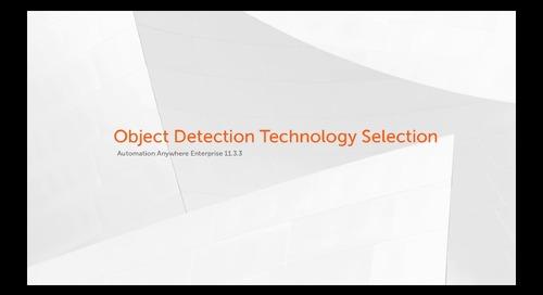 Enterprise 11.x Features - Object Detection Technology Selection