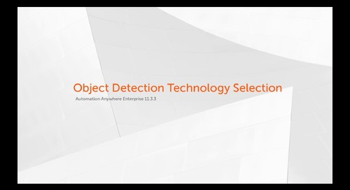 Enterprise 11.x Features - Object Detection Technology Selection