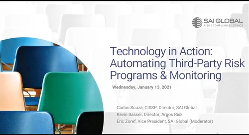 Tech in Action: Automating Third-Party Risk Programs & Monitoring
