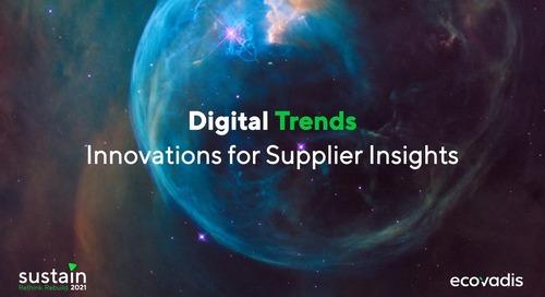 Tendances numériques et innovations pour le suivi des fournisseurs