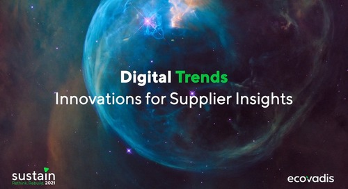 Digital Trends-Innovations for Supplier Insights