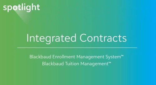 Integrated Enrollment and Tuition Contracts