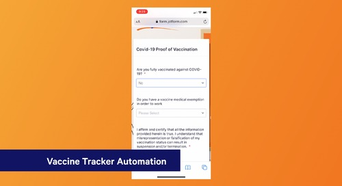 Vaccine Tracker Automation - Keep your staff and clients safe during the COVID-19 pandemic