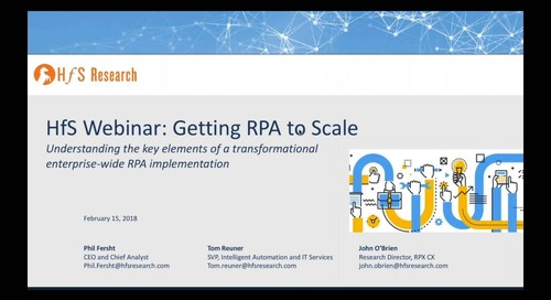 HfS - Getting RPA to Scale