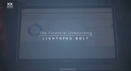 Appirio's Financial Onboarding Lightning Bolt