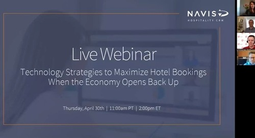 Technology Strategies to Maximize Hotel Bookings When the Economy Opens Back Up