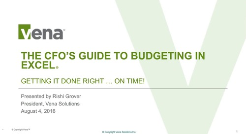 The CFO's Guide to Budgeting in Excel – Getting It Done Right … On Time