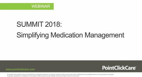 Top SUMMIT 2018 Sessions for Senior Living: Simplifying Medication Management
