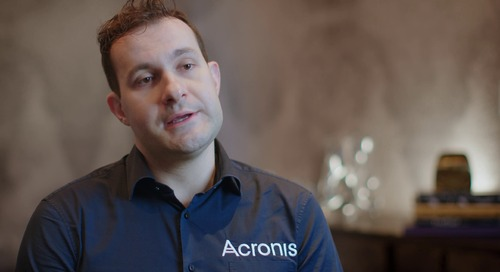 We are driving net new accounts and existing prospects - Acronis