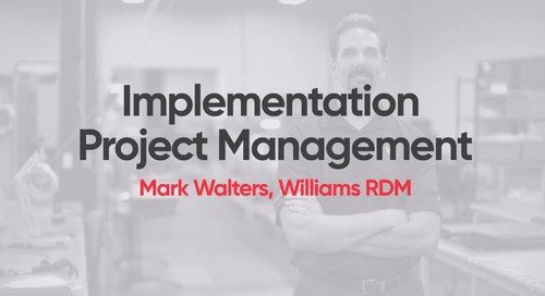 Williams RDM - M1 Implementation Project Management