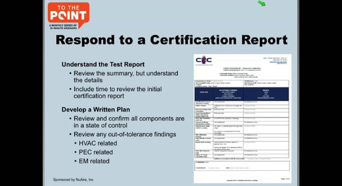 [Webinar] USP Compliance: Preparing for Cleanroom Certification