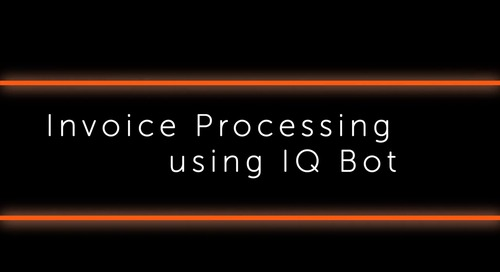 IQ Bot Use case - Invoice processing End-to-end