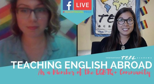 LGBTQ+ Teaching English Abroad - TEFL Facebook Live