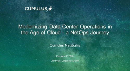 Webinar: Modernizing operations for the cloud age