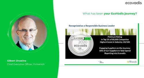 Wie war die Entwicklungsgeschichte von Firmenich mit EcoVadis?