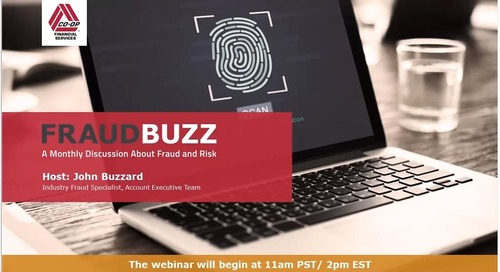 FraudBuzz Webinar - August 2018