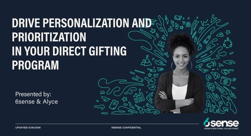 6sense + Alyce   Personalize & Prioritize Direct Gifting