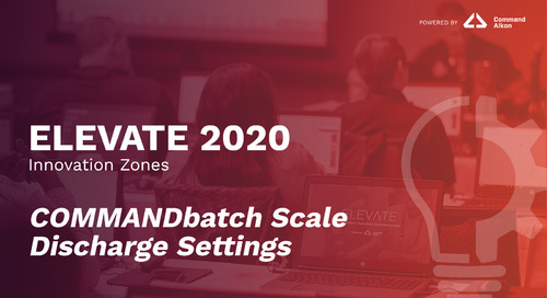 COMMANDbatch Scale Discharge Settings