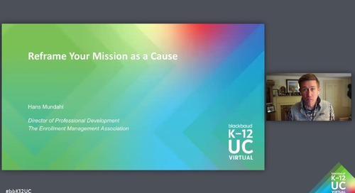 Reframe Your Mission as a Cause