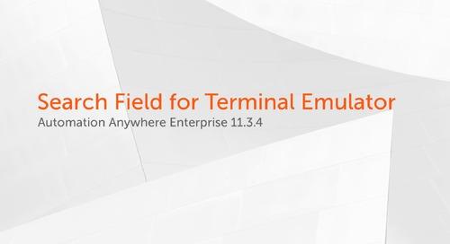 Enterprise 11.x Features - Terminal Emulator Search Field