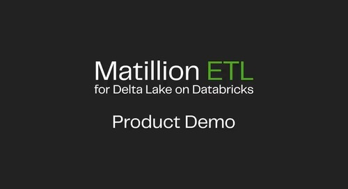 Matillion ETL for Delta Lake On Databricks | Launch Product Demo