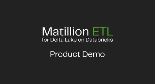 Matillion ETL for Delta Lake On Databricks | Launch Product Demo