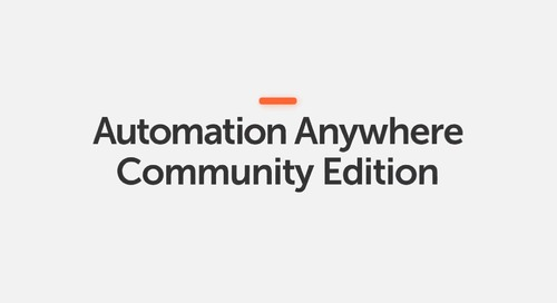 How-to Build Your First Bot in Automation Anywhere Community Edition