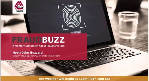 FraudBuzz Webinar - July 2018
