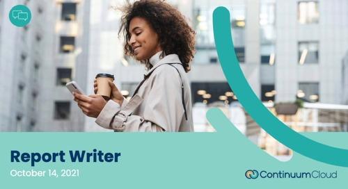 HCM Client Webinar - Report Writer